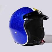 jet metal flake bleu