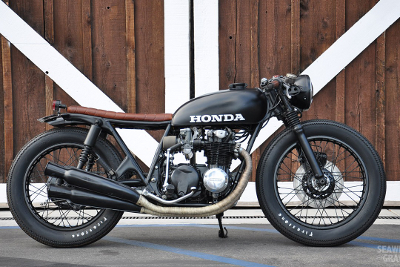 Honda CB 750 seaweed and gravel